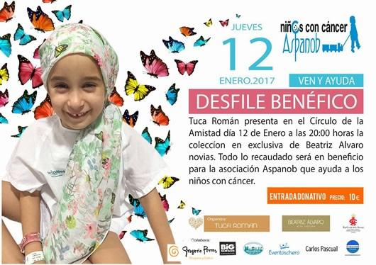 Desfile a beneficio de la asociación Aspanob de ayuda a niños con cáncer