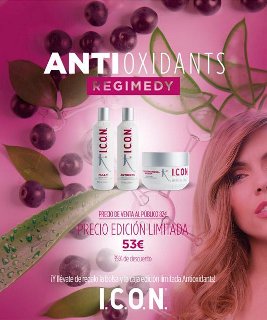 antioxidante para cabello regimedy de Icon