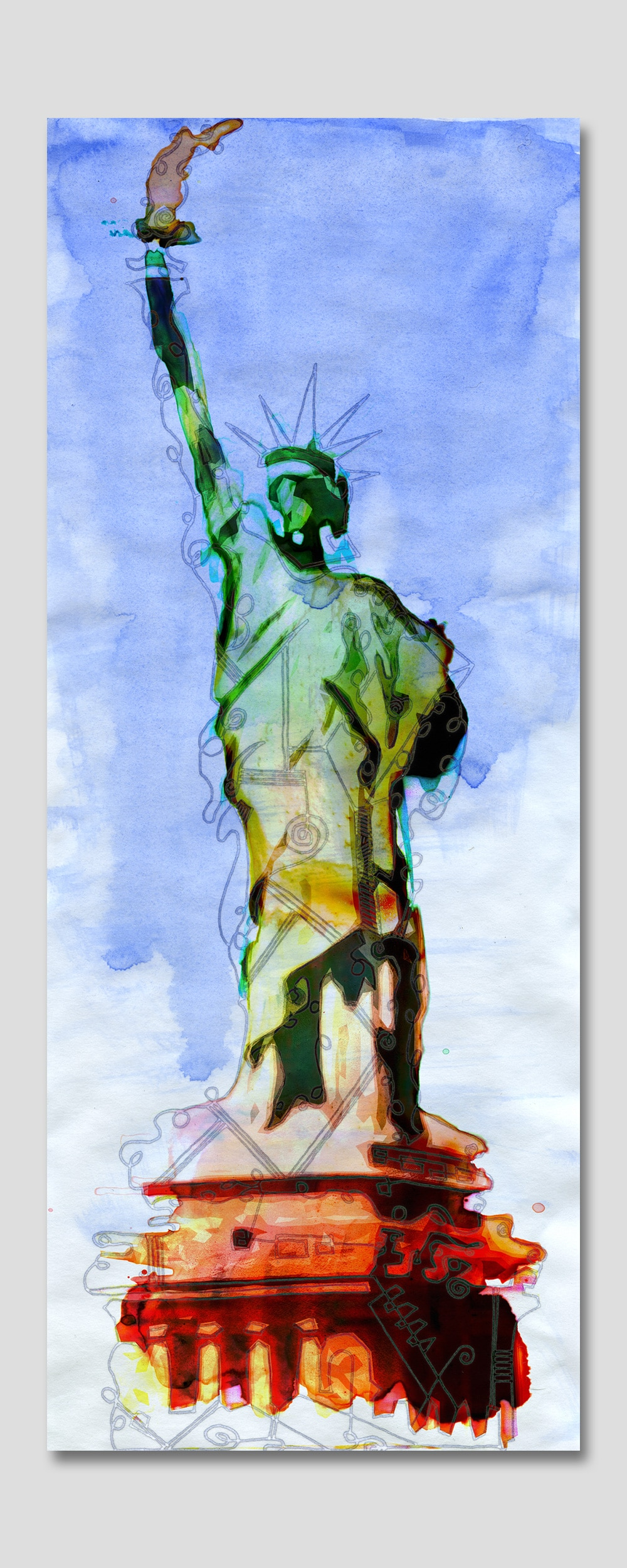 portrait of the statue of liberty