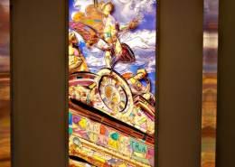 illuminated mural