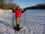 Snowshoeing on the St. Croix at the State Park.