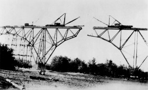 The High Bridge under construction in 1911