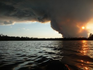 The thundercloud-like effect of the smoke, Saturday evening