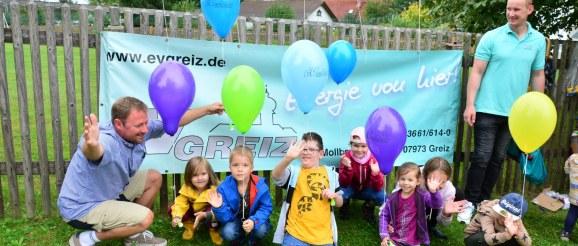 Erstes Kinderfest zum Straßenfest in Greiz-Obergrochlitz