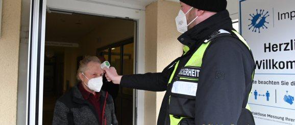 Impfstelle im Greizer Krankenhaus
