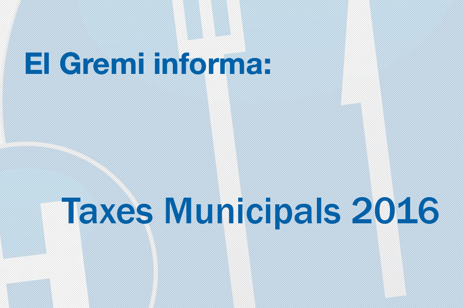 Taxes Municipals 2016