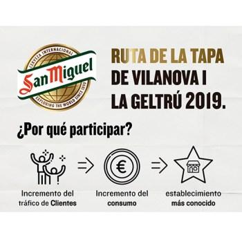 Ruta de tapes San Miguel 2019