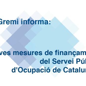 Noves mesures de finançament del Servei Públic d'Ocupació de Catalunya