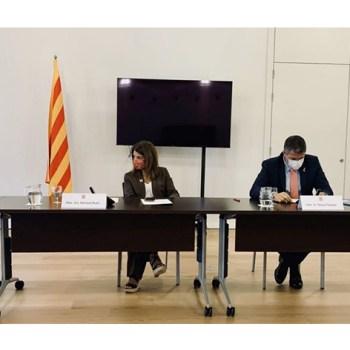 Reunió del Govern amb representants del sector de la restauració per avalar la situació del Covid-19.