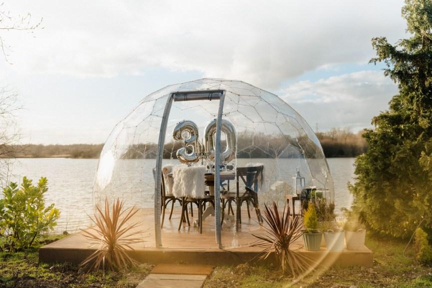 waterside igloo dining