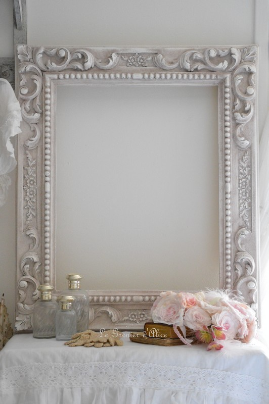 Cadre Patin Style Baroque Patine Shabby Chic Romantique