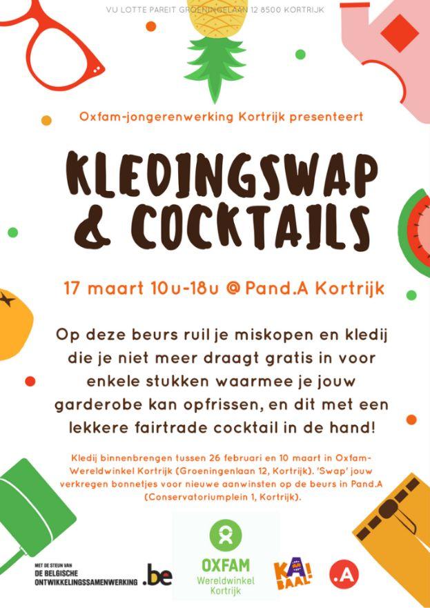 Jongeren van Oxfam-Wereldwinkel Kortrijk organiseren kledingswap