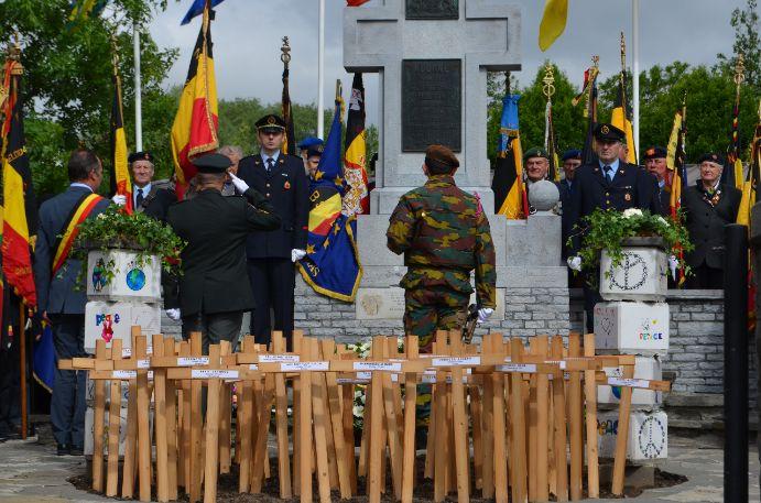 F16 op de herdenking Leieslag Kuurne