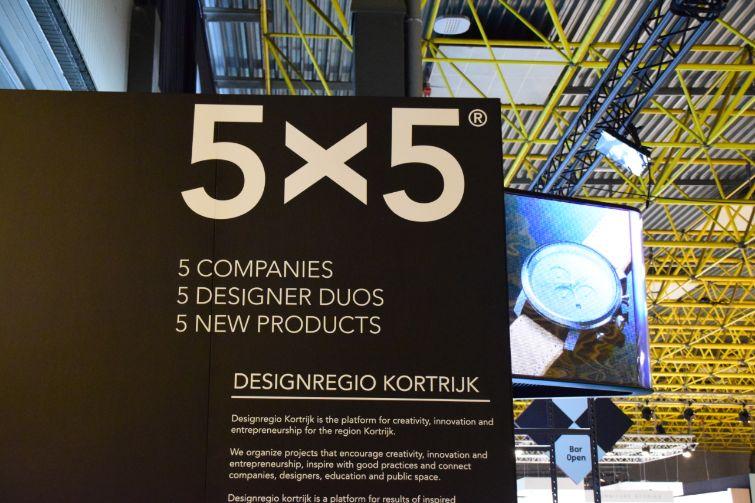 Designregio Kortrijk biedt binnen het 5X5® programma vijf ondernemingen uit de regio Kortrijk-Roeselare-Ieper-Tielt de kans om een designersduo in te schakelen