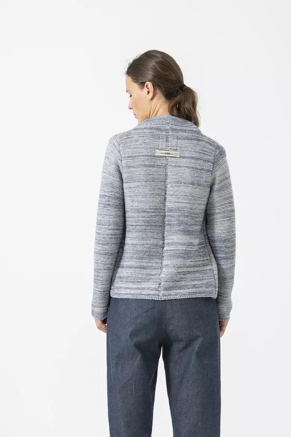 Strickjacke Elly mouliné von Grenzgang Slow Organic Fashion