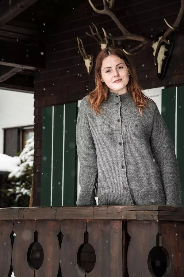 Strickmantel Elliana von Grenzgang Slow Organic Fashion