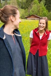 Strickweste Susanne von Grenzgang Südtirol Allgäu