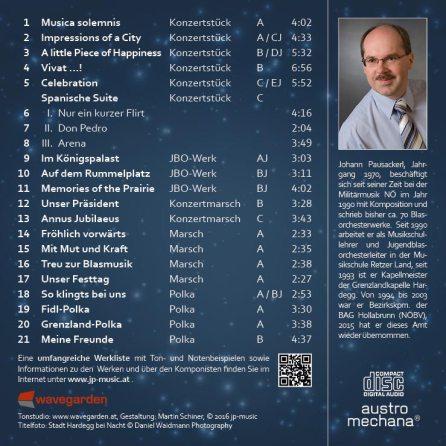 JP Music Best Of CD Rückseite
