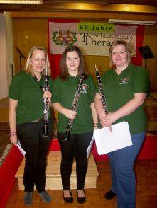 Klarinetten-Trio (v.l.): Bernadett Hochrainer, Jacqueline Pausackerl, Birgit Mahr-Schadn