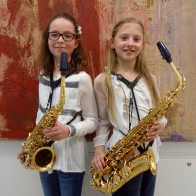 Saxophon Lena´s: (v.l.) Marlene Krehan, Helena Schiner