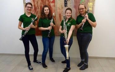 Klarinetten-Quartett: (v.l.) Julia Müller, Jacqueline Pausackerl, Constanze Zach, Bernadett Hochrainer