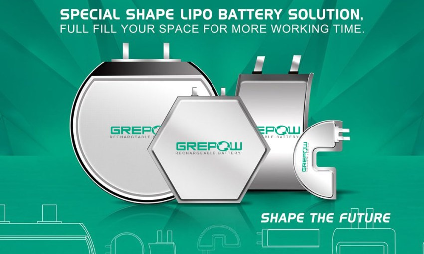 novel shaped battery