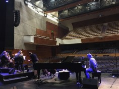soundcheck with the Southern Fried String Quartet, Southern Fried Festival, Perth Concert Hall, Perth, Scotland 29 July 2018