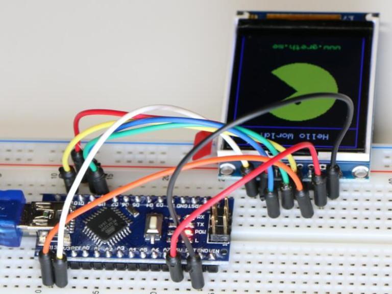 ST7735 Display Rückansicht