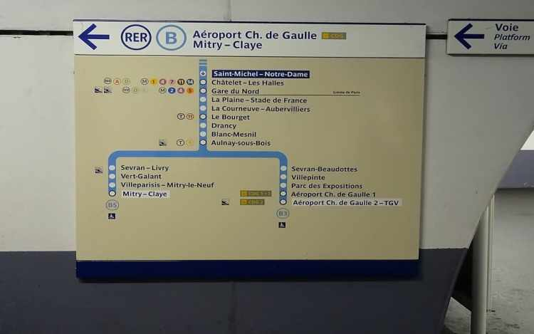 rer b station saint michel