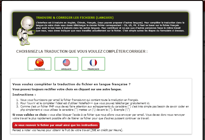 instruction correction traduction ghs tools
