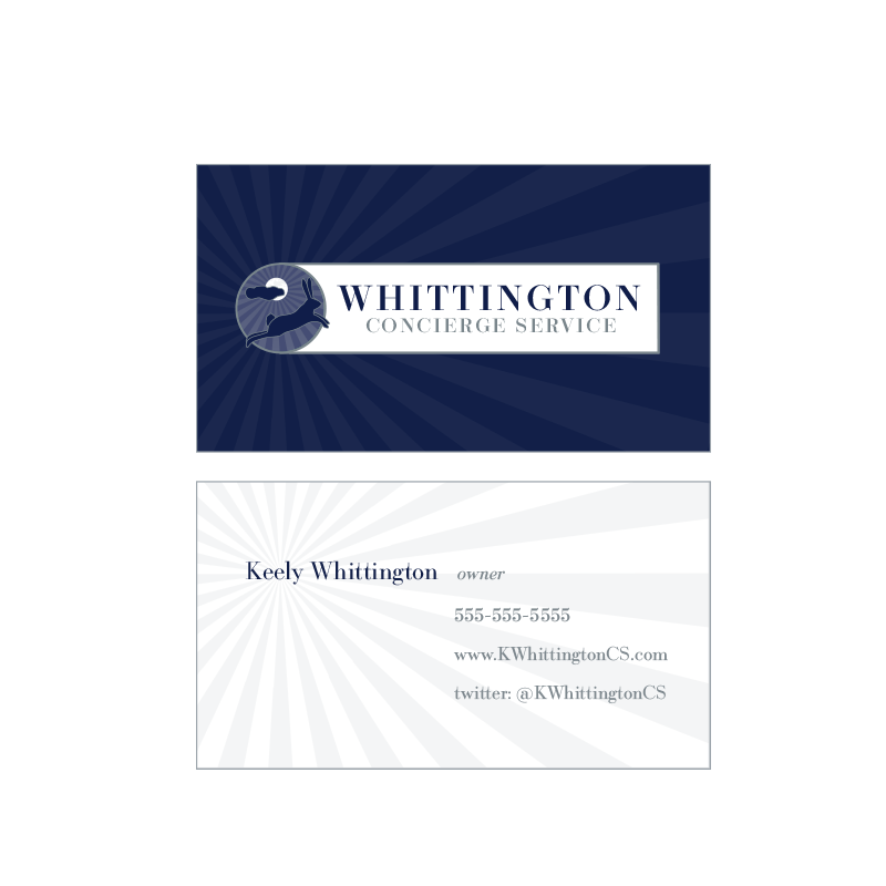 Whittington Concierge Services Business Cards