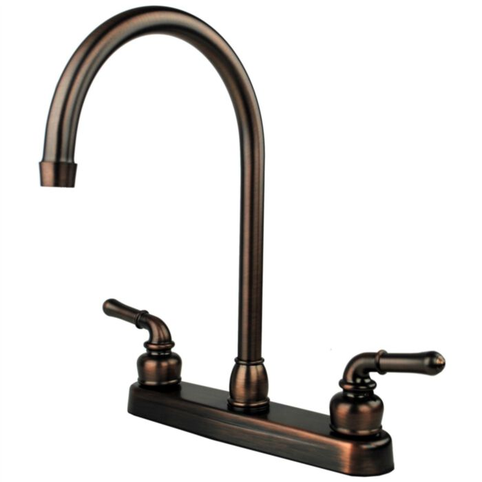 ultra faucets uf08505cf rv mobile home kitchen sink faucet oil rubbed bronze