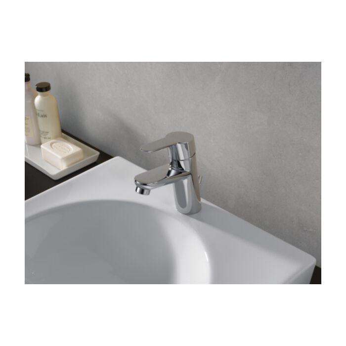 delta faucet modern 573lf mpu pp single handle project pack bathroom faucet chrome