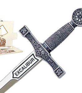 Miniature Excalibur Sword (Silver) by Marto of Toledo Spain