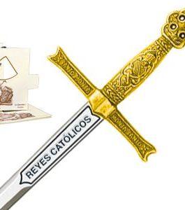Miniature Sword of Catholic Kings (Gold) by Marto of Toledo Spain