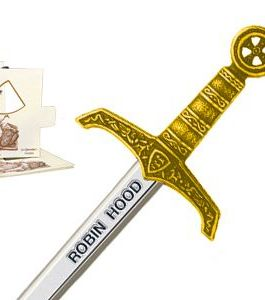 Miniature Robin Hood Sword (Gold) by Marto of Toledo Spain
