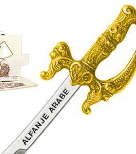 Miniature Arabian Scimitar Cutlass (Gold) by Marto of Toledo Spain