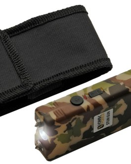 4′ KWIK FORCE CAMO STUN GUN W/ BUILT IN CHARGER
