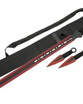 28″ NINJA SWORD INCLUDES 2 PC THROWING KNIFE