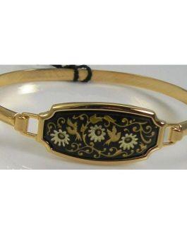 Damascene Gold Bird Bracelet by Midas of Toledo Spain style 2080