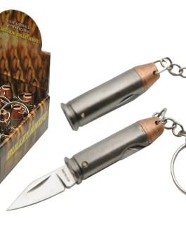 12-PC DISPLAY 44 MAGNUM KEYCHAIN KNIFE