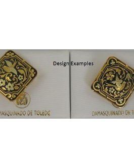 Damascene Gold Bird Diamond Brooch by Midas of Toledo Spain style 825011