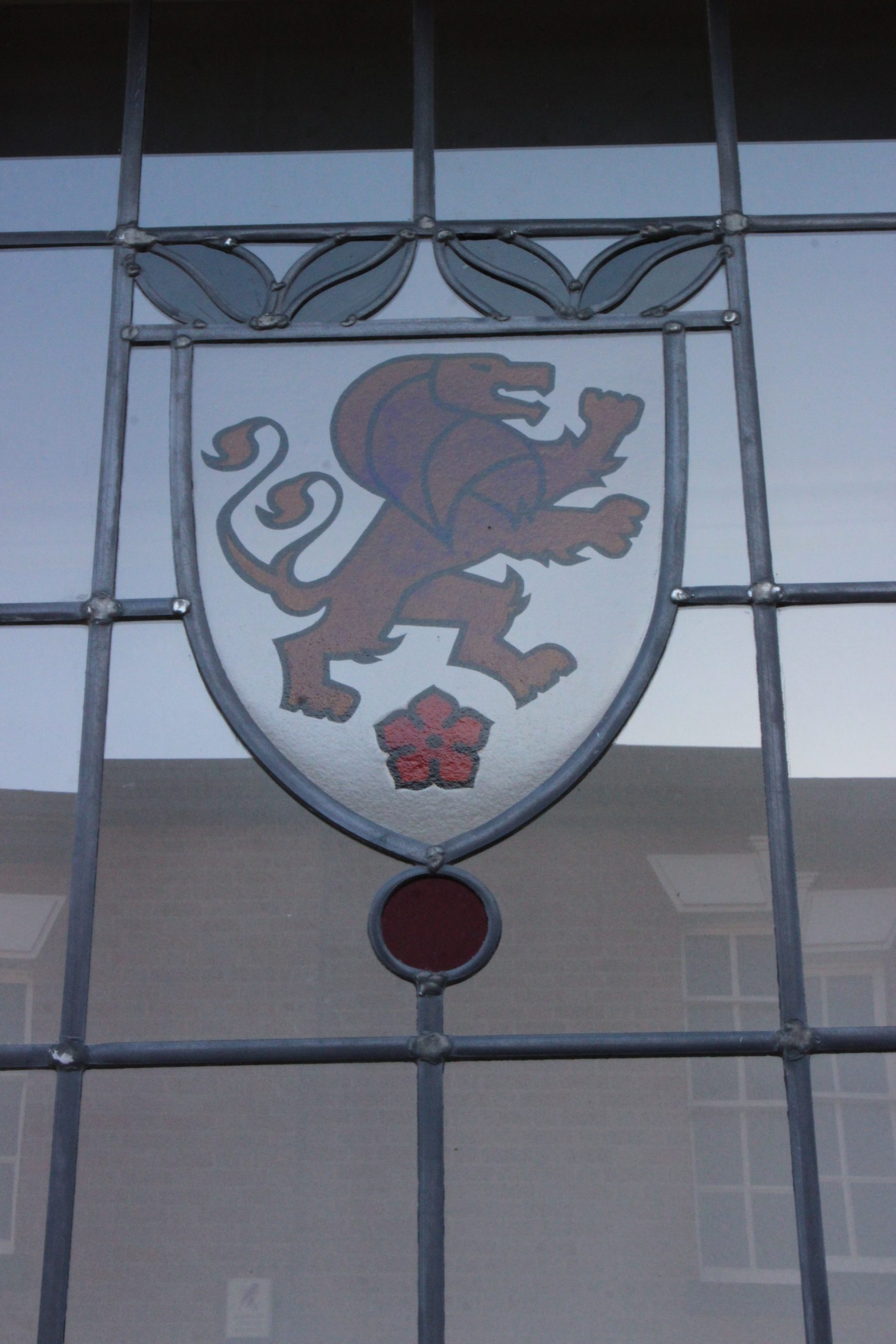 Window detail of The Two Tailed Lion restoration