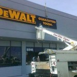 DeWalt lighted sign cabinet