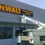 DeWalt lighted sign cabinet