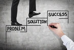 problem solution success business signage design logo companies