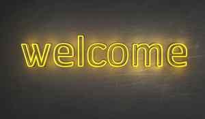 lighted welcome sign home shop Denver