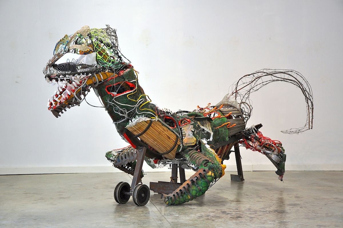 "Eli Merritt Sculpture, ""The Drake,"" for the Ten Spot Art Show at the Lichtenstein Center for the Arts"