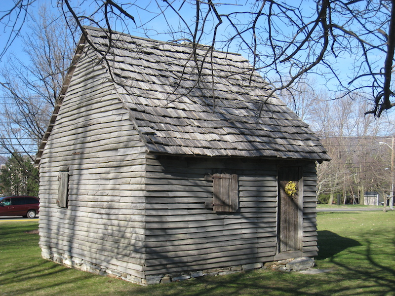 """The """"1753 House"""" This reconstruction demonstrates the architecture of the very first homes built in Williamstown."""