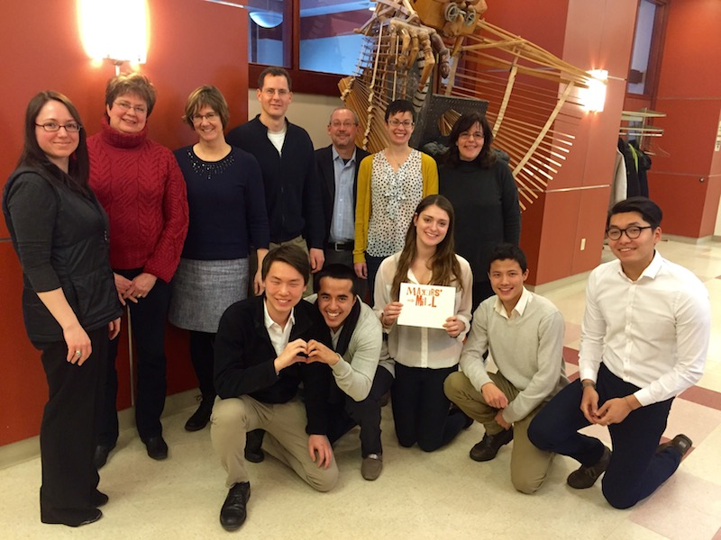 Members of the Makers' Mill Board and students from Williams College social entrepreneurs classes.